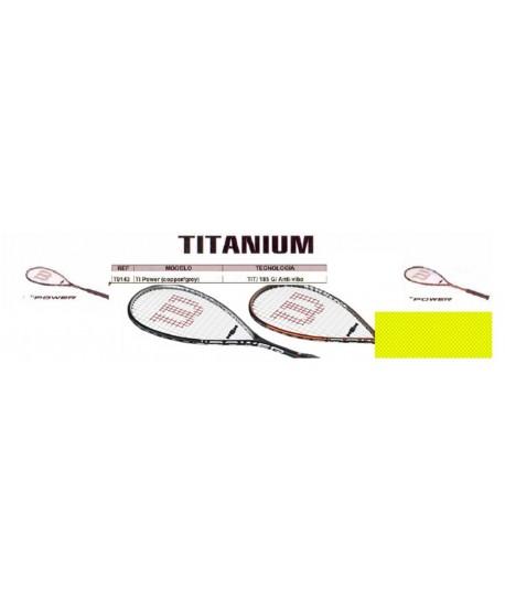 "RAQUETA WILSON SQUASH ""TITANIUM"" T1 POWER 185G/ANTI-VIB"