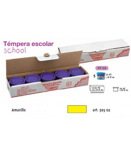 TEMPERA ESCOLAR 5UDSX35ML JOVI COLOR AMARILLO
