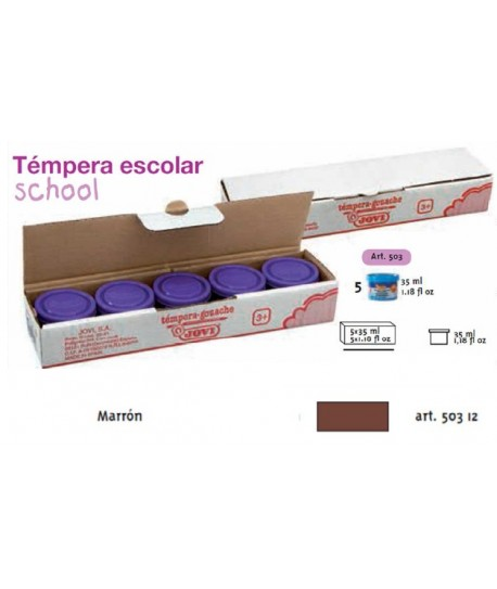 TEMPERA ESCOLAR 5UDSX35ML JOVI COLOR MARRON