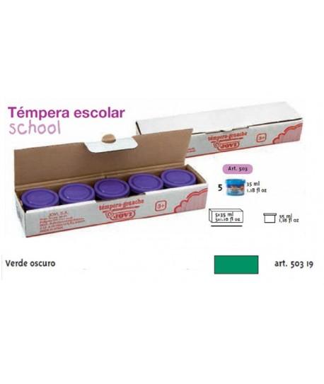 TEMPERA ESCOLAR 5UDSX35ML JOVI VERDE OSCURO
