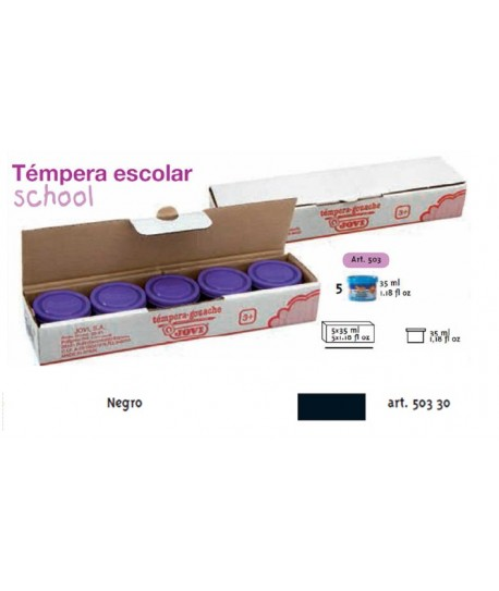 TEMPERA ESCOLAR 5UDSX35ML JOVI COLOR NEGRO