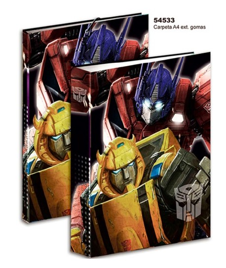 CARPETA A4 EXT,GOMAS TRANSFORMERS