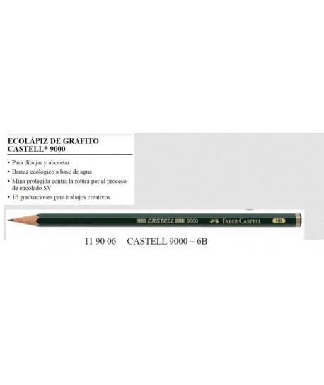 ECOLAPIZ DE GRAFITO CASTELL 9000-3B