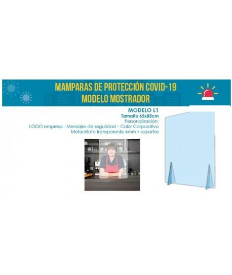 MAMPARA DE PROTECCION COVID-19 TAMAÑO 65X85CM