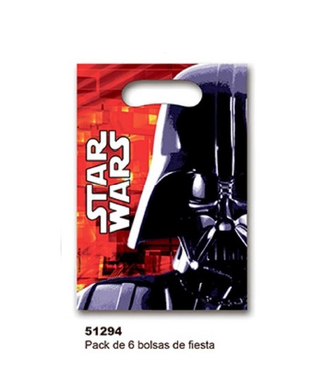 PACK DE 6 BOLSAS DE FIESTA STARWARS