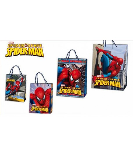 PACK 24 UDS BOLSA MINI SPIDERMAN 18X13X8CM 4 DISEÑOS