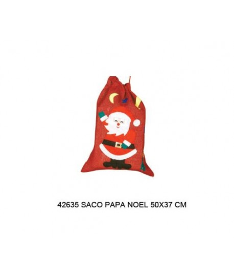 SACO PAPA NOEL 50X37CM