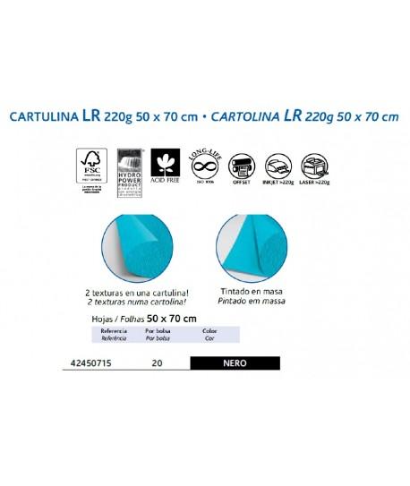 CARTULINA LR 220GR 50X70CM COLOR NEGRO