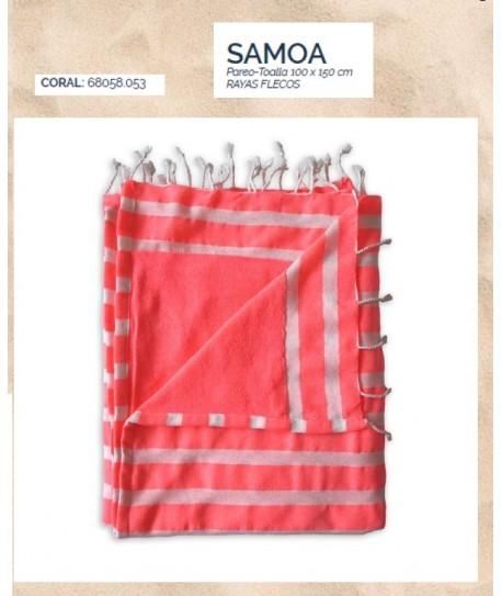 PAREO 100X150 FLECOS SAMOA CORAL