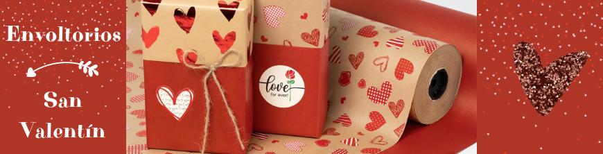 Envoltorios regalos San Valentín